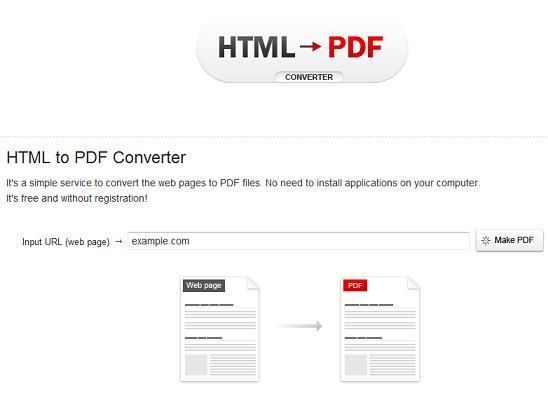 Save websites as PDF