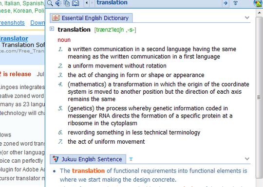 An Easy To Use Dictionary and Translator for Bloggers