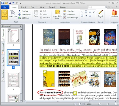 Add annotations in Wondershare PDF Editor