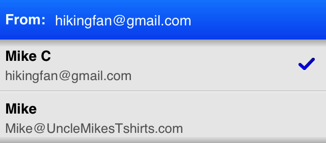 Gmail iOS Multiple From