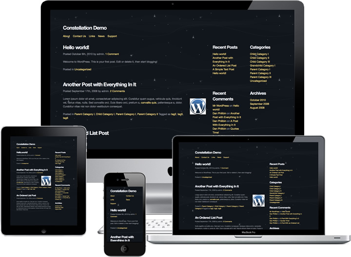 Constellation WordPress Theme