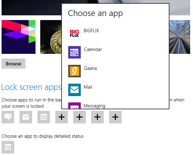 windows 8 lock screen apps