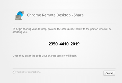 Chrome Remote Desktop - Share