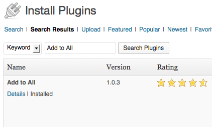 Install Add to All plugin