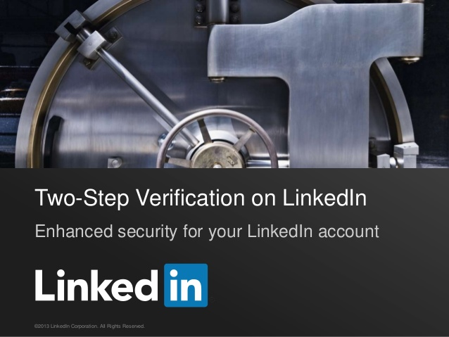 LinkedIn Two Step Verification