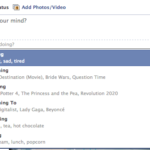 How to update your Facebook status with what you are doing