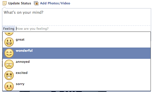 Facebook - How are you feeling