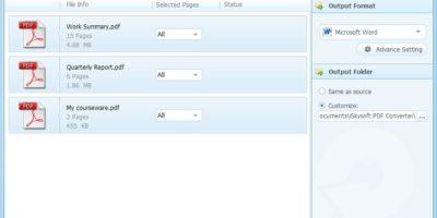iSkysoft PDF Converter screenshot