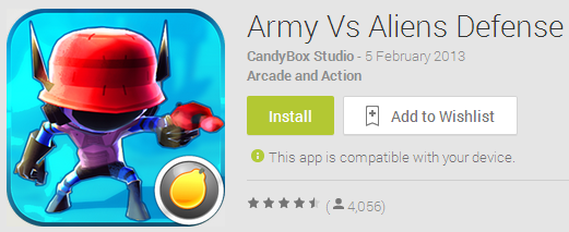 Army vs. Aliens Defense
