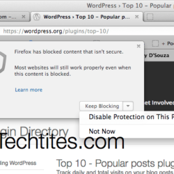 How to stop Firefox from blocking Mixed Content