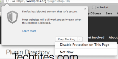 Firefox - Mixed Content Blocking