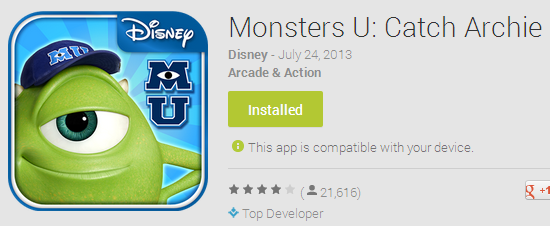 Monsters U - Catch Archie