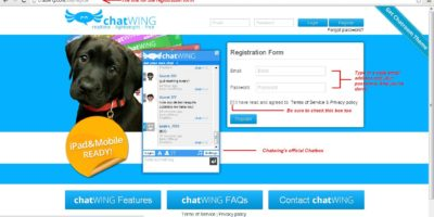 Chatwing - Register