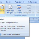 Creating Custom Labels in Microsoft Word 2007 (Tutorial Thursday)