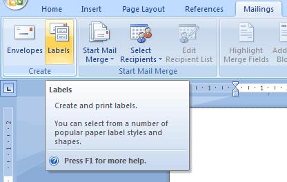 Creating Custom Labels in Microsoft Word 2007 (Tutorial Thursday)