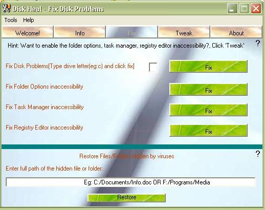 View more screenshots of Disk Heal