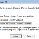 Download Development Releases of Google Chrome with Channel Changer