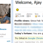 Google advertises Chrome in Orkut