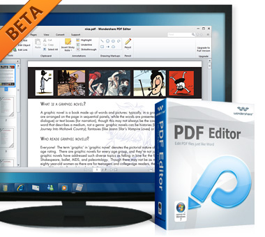 Wondershare PDF Editor BETA