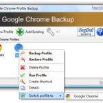 Backup your Google Chrome settings with Google Chrome Backup