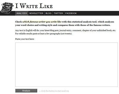 Find Out With Which Famous Author Your Writing Matches