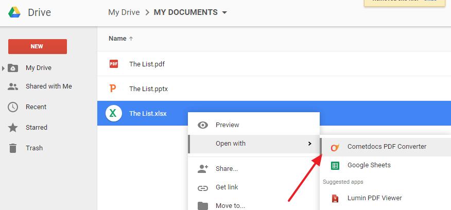 Cometdocs Convert to PDF