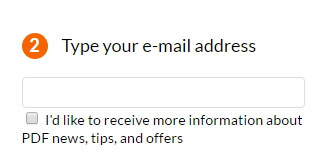 Step 2 - Enter your email