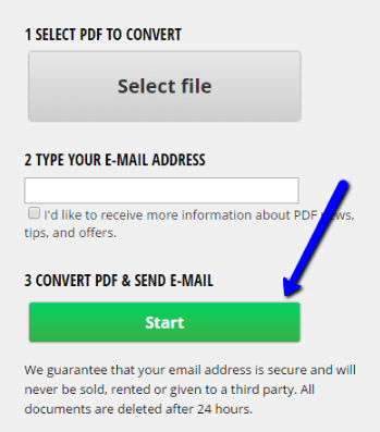 Step 3: Start converting