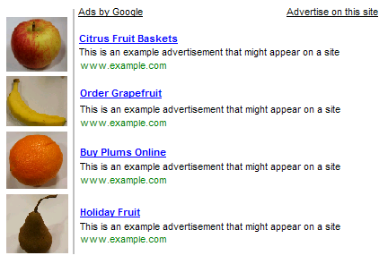 Example 2 of Images next to Google Ads