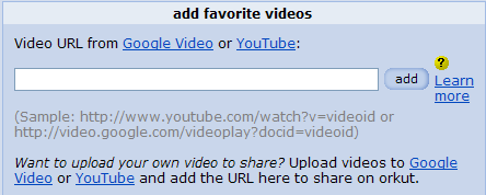 Share videos from Google Video and YouTube