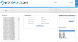 Proxybonanza.com User Panel